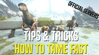 SECRET TIP TO INSTANT TAME  DINOS ON OFFICIAL SERVER! WHAT THE DEVS DON'T WANT YOU TO KNOW
