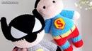 Амигуруми схема Супергерои Бэтмен против Супермена. Игрушки вязаные крючком. Free crochet patterns