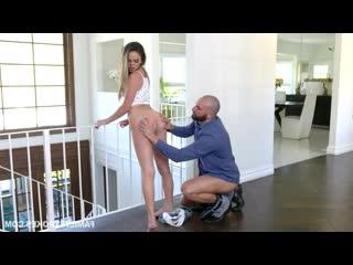 Athena Faris - Some Under The Table Footplay [All Sex, Doggystyle, Facial, Indoor, Teen, Footjob, Step Dad, Taboo]
