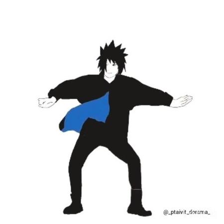 Sasuke and Naruto dance 