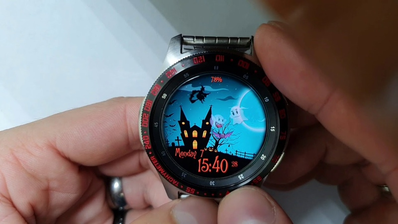 Halloween Animated WW39 watchface for Samsung Gear Samsung Galaxy watch