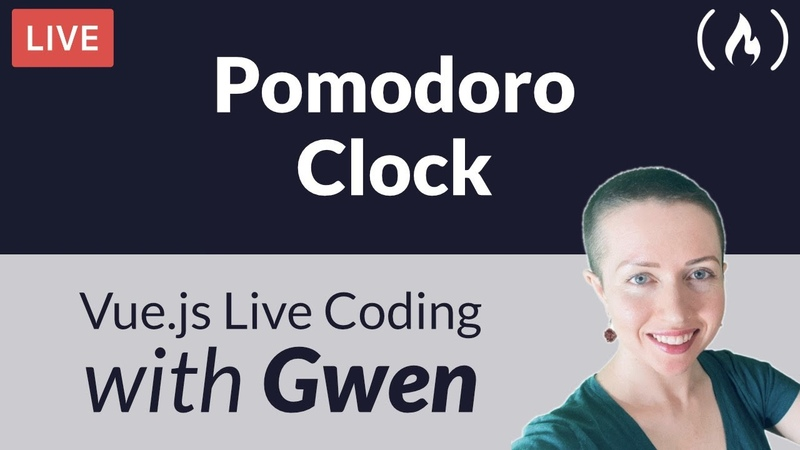 Live Coding Project Create a Pomodoro Clock using with Gwen Faraday