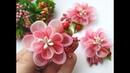 Летние миниатюрные цветы из органзы-градиент для самых маленьких принцесс.