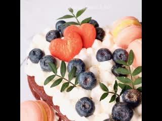 Медовый шоколадный торт с манго. / Наша группа в ВКонтакте: ТОРТ-РЕЦЕПТ-VК.