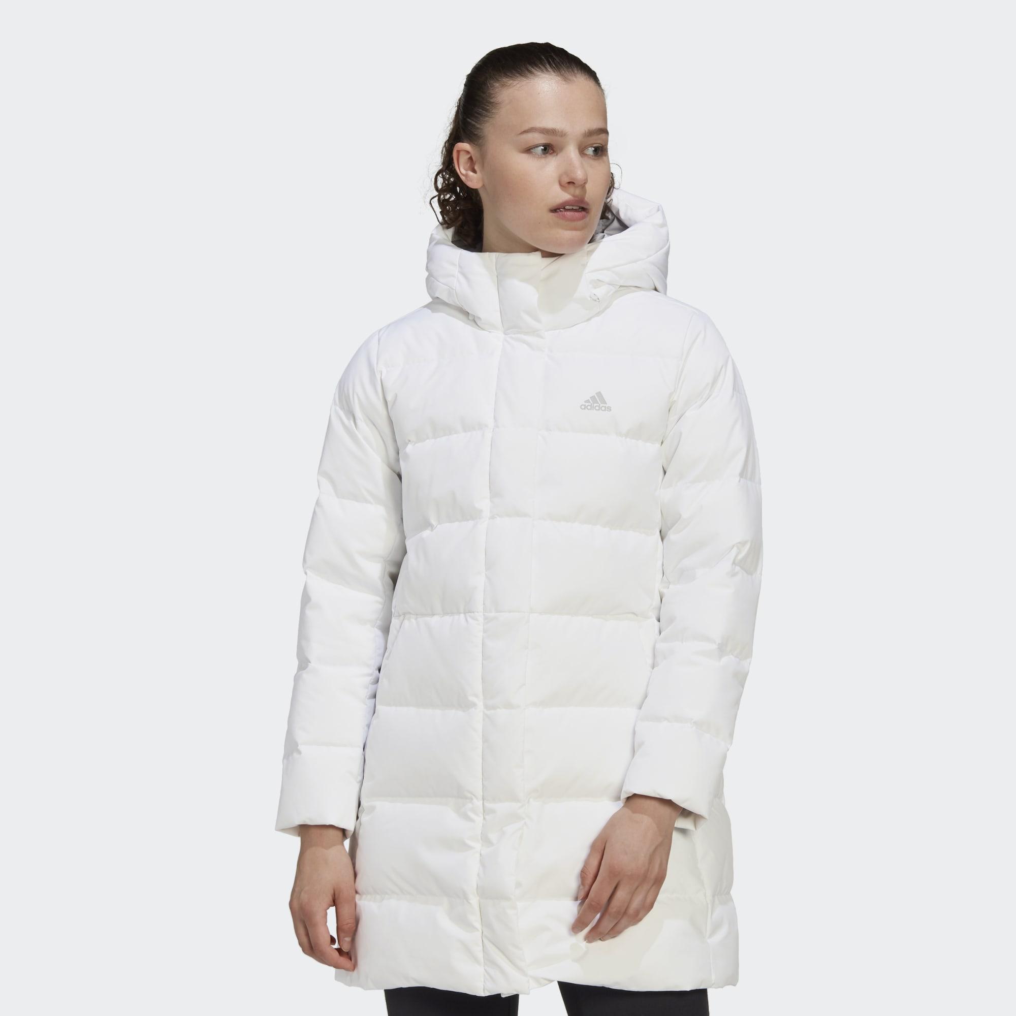 Длинная куртка-пуховик