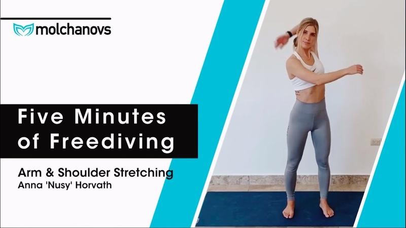 Five minutes of Freediving Arm Shoulder Stretching Freediving Stretching Exercises