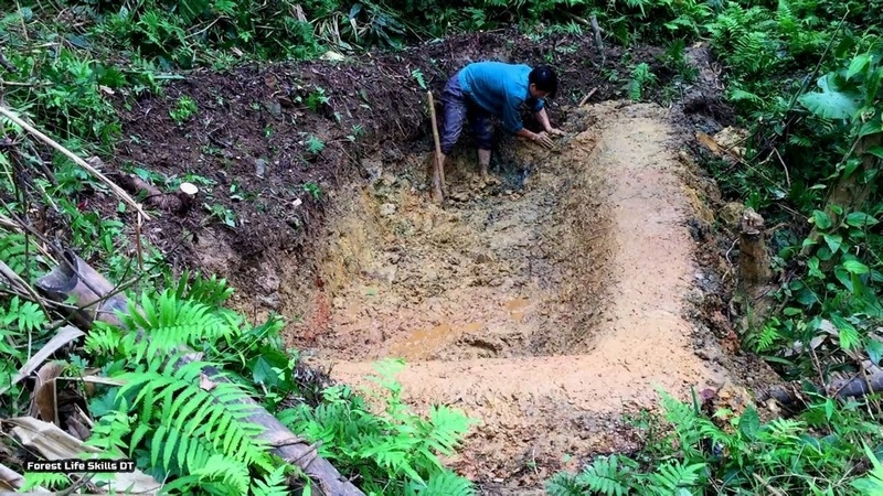 Digging and building water storage tanks survival instinct ep 106