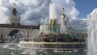 Moskva 16. 05. 2021 - Fontána v parku VDNCH
