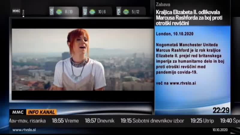 Фрагмент эфира инфоканала на канале RTV MMC Словения . 10.10.2020