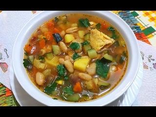 Куриный Суп с Фасолью/Очень Вкусно и Просто!