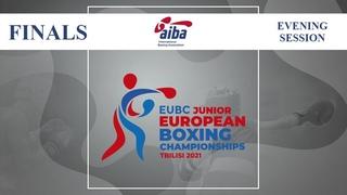 EUBC Junior European Boxing Championships Tbilisi 2021 | Finals | Evening Session