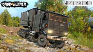 SnowRunner - CUSTOMS 8000 SERIES Dump Truck Driving Through Mud