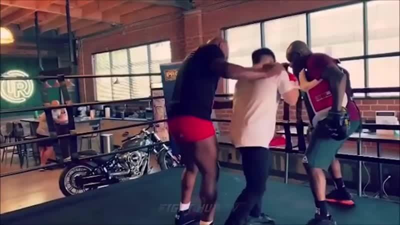 Урок бокса от Майка Тайсона для Олимпийского чемпиона и чемпиона UFC в двух весо
