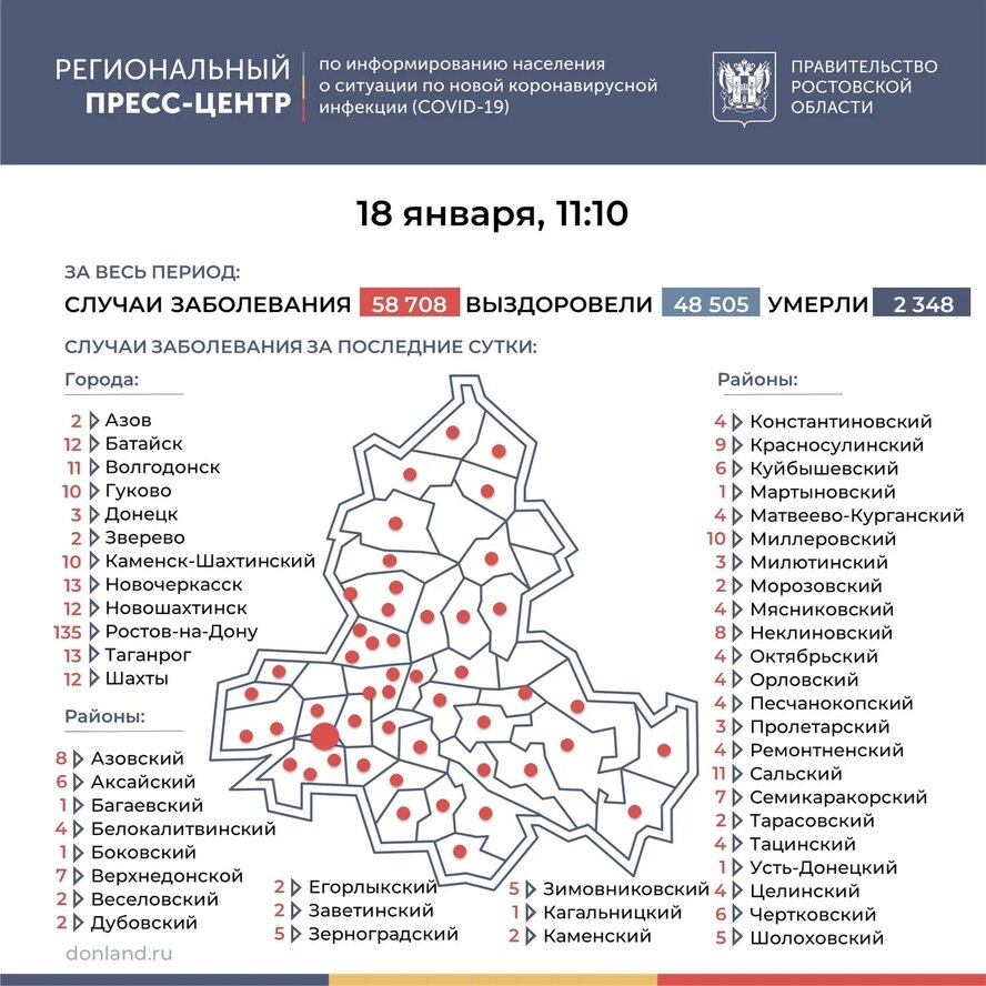 На Дону число инфицированных COVID-19 выросло на 393, в Таганроге 13 новых случаев