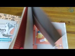 Альбом для фотографий в технике скрапбукинг выполнен в подарок сыну.