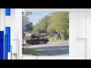 Обстановка в Америке накаляется: житель Флориды решил пересесть на танк
