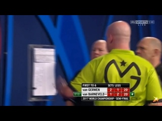 Michael van Gerwen vs Raymond van Barneveld (PDC World Darts Championship 2017 / Semi Final)