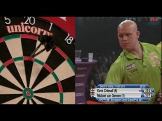 Dave Chisnall vs Michael van Gerwen (European Darts Grand Prix 2017 / Semi Final)