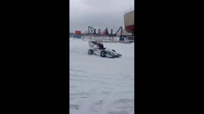 FSAE Test Race Car in Winter