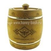 Мед «Бочонок деревянный морилка» (обруч) 1,0 кг.