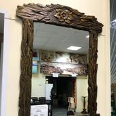Зеркало из массива Сосны