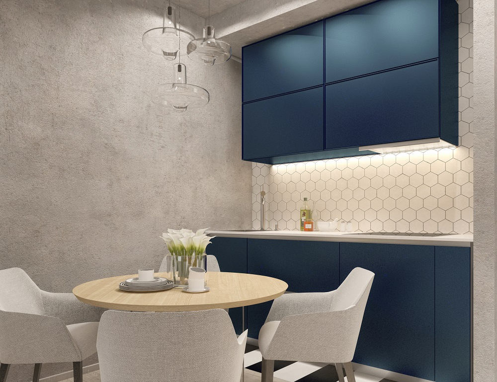 Проект квартиры-студии 35 м.