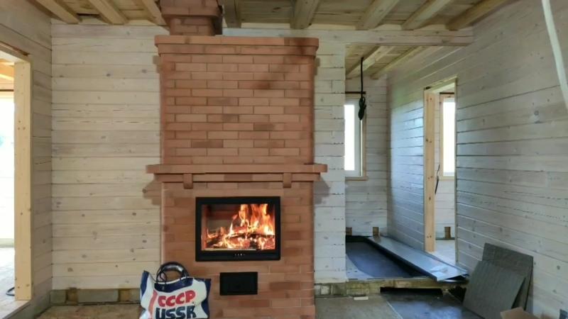 Строительство двухколпаковой каминопечи с водяным контуром для отопления большого дома.