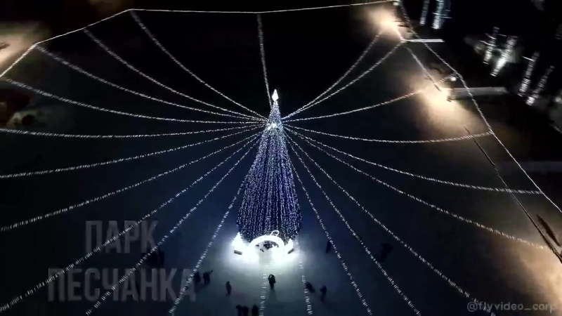 Всеволожск новогодняя Песчанка Съёмка с дрона