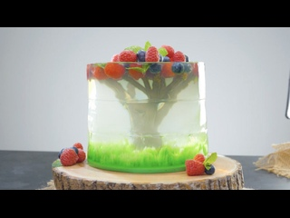 Роскошный 3D торт из желе на День рождения (Ингредиенты под видео) | Больше рецептов в группе Шеф кондитер
