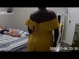 Mixed Couple  Passionate Sex and BJ, Multiple Orgasms, Masturbating, White Dick inside Black Pussy