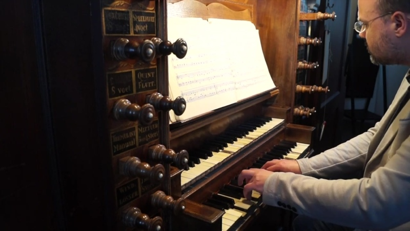 1095 J S Bach O Lamm Gottes unschuldig Neumeister Chorales BWV 1095 Rudi Diekstra organ