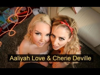 Aaliyah Love, Cherie Deville   Мамка с дочкой   group, hardcore, anal sex, strapon, christmass, mom and daughter, ffm