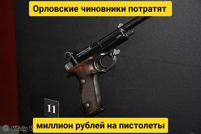 Орловские чиновники потратят миллион рублей на пистолеты