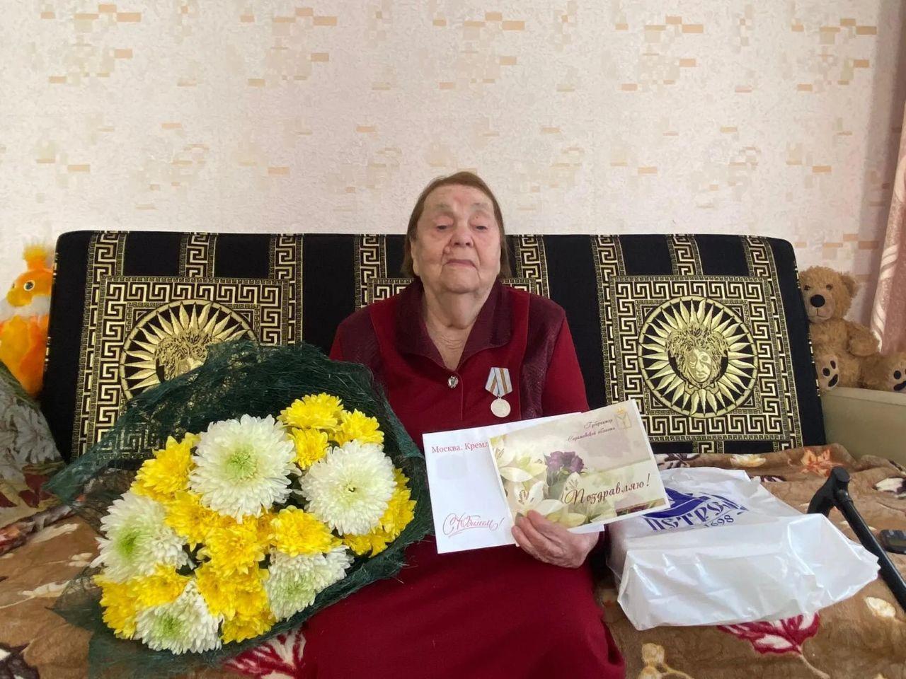 Сегодня поздравления с прекрасным юбилеем - 95-летием принимает петровчанка Мария Михайловна ЕВДОКИМОВА
