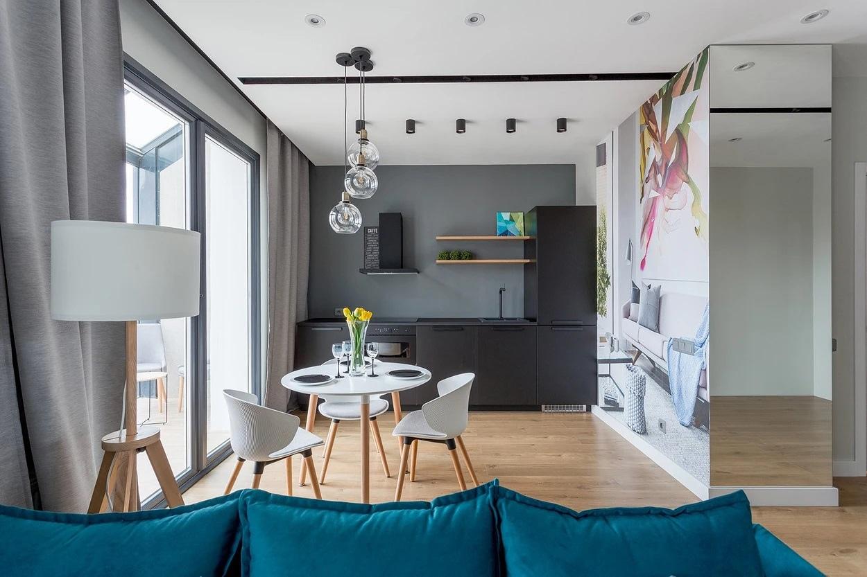 Интерьер квартиры-студии 43 кв.