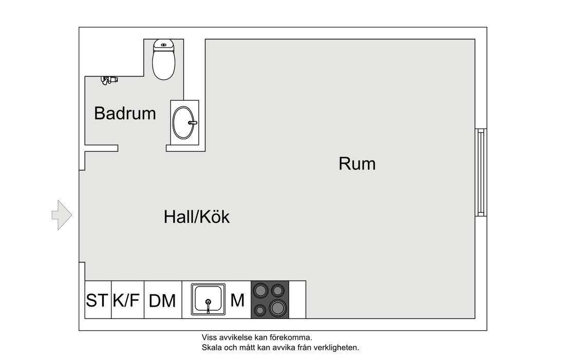 Небольшая шведская квартира-студия 24 кв.