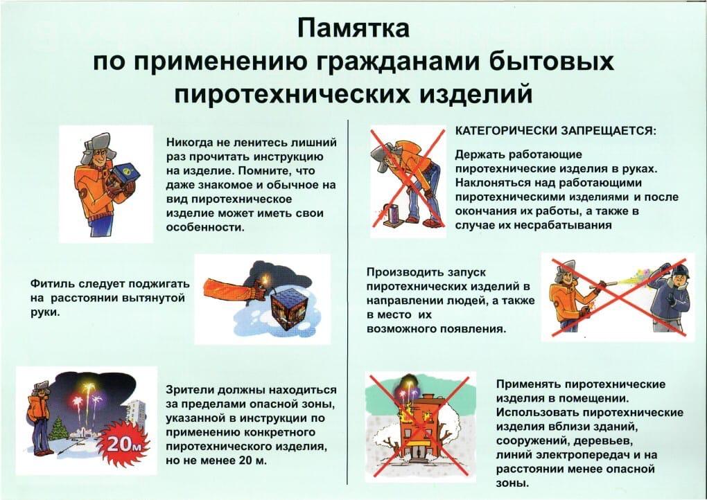 Общие правила безопасности при пользовании пиротехникой 1.