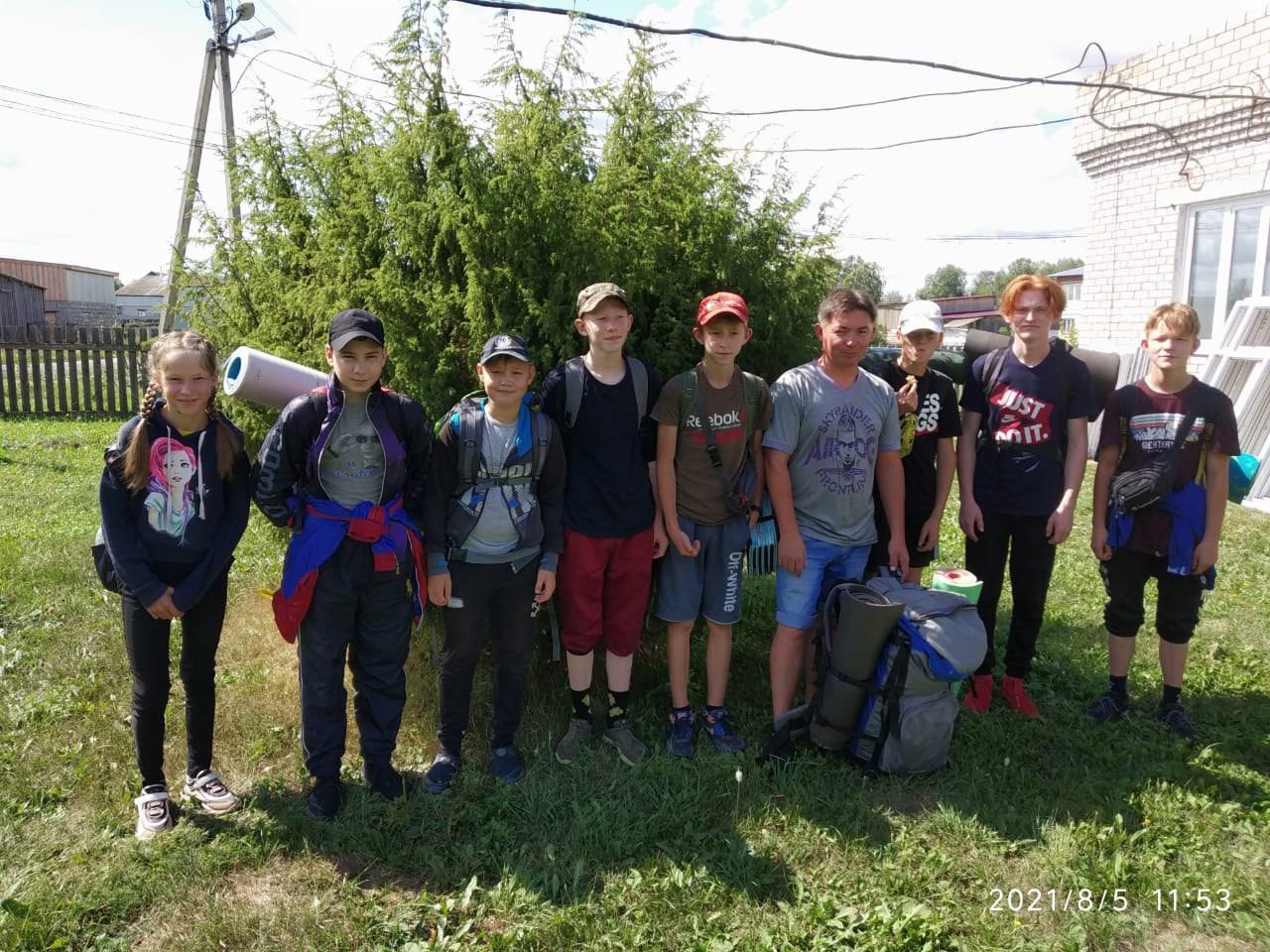 #ИстокРекиВала #Можгинскийрайон#Юныетуристы🏕Юным туристам из Александровской школы вновь