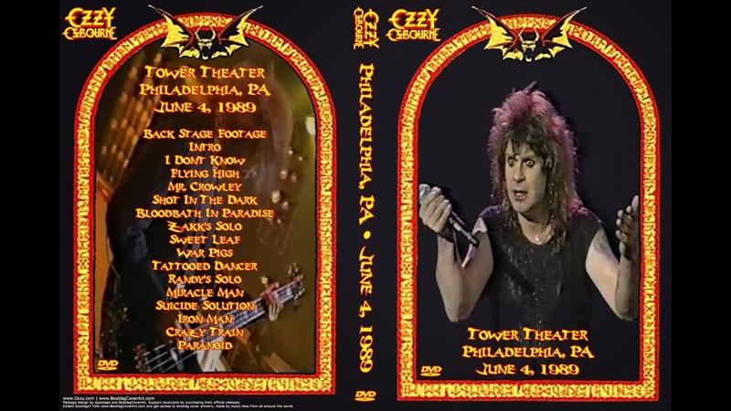 Ozzy Osbourne Live in Philadelphia 1989
