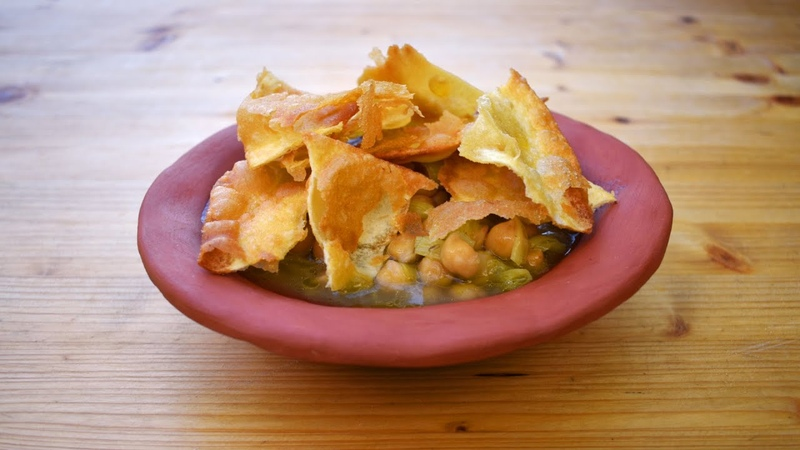 Flatbread and Chickpea Soup Ancient Roman Recipes