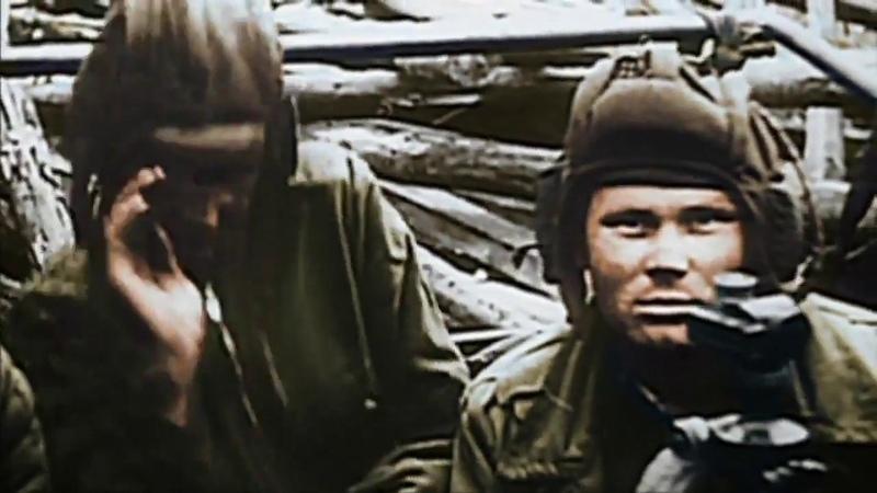 Вторая Мировая Штурм Берлина в цвете апрель май 1945 кинохроника уникальные кадры