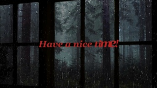 The sound of rain outside the window|Thunderclaps|Sounds of Nature|Relax|HD