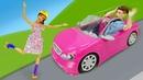 Барби не умеет кататься на роликах! Смешные видео для девочек про кукол Барби и Кена