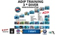 🦀ADIP diving certificates 3stars divers rescue, level 3 diver can practice scuba diving in Thailand