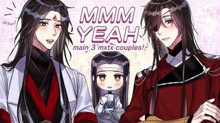mmm yeah but its wangxian, hualian & bingqiu (mxtx animatic)