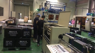 Automatic tilting thermoforming machine for cup taken in Korean customers' factory