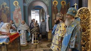 Схиархимандрит Илий (Ноздрин) отметил праздник Похвалы Пресвятой Богородицы в Волгограде. 2021