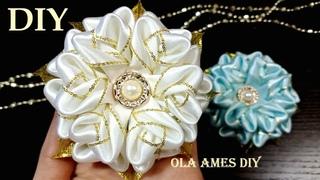 Таких Цветов Вы еще не Делали 😍 Посмотрите какие КРАСИВЫЕ ЦВЕТЫ из ЛЕНТ😍 DIY Ribbon Flowers/Ola ameS