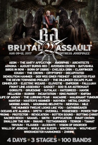 2017 brutal assault Architects Concert
