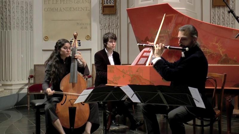 Jean Marie Leclair Sonate pour flûte viole de gambe et BC Allegro assai